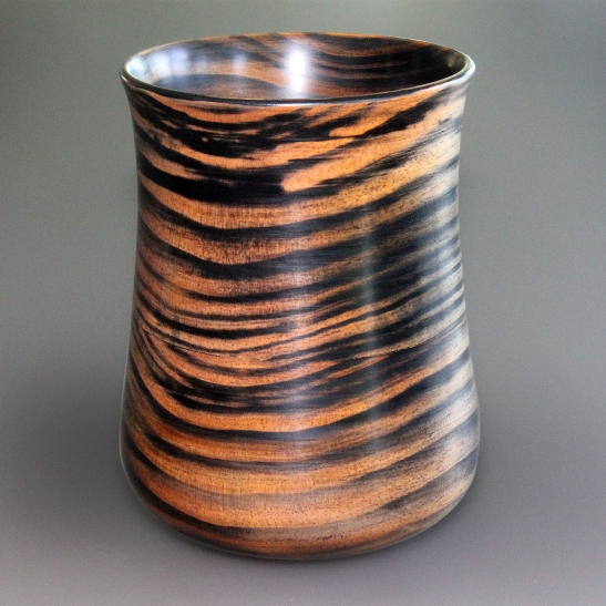 Pine Black Stain Vase Aug 2015